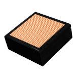 Orange Houndstooth Trinket Box