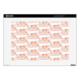 """Orange houses 15"""" laptop skin"""
