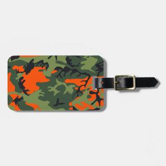 Orange Hunter Camo Bag Tag
