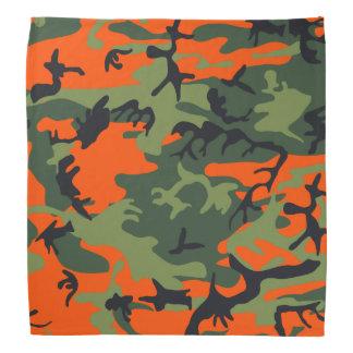 Orange Hunter Camo Bandana