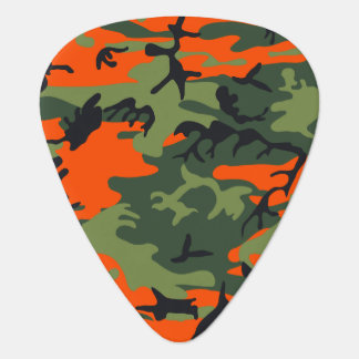 Orange Hunter Camo Guitar Pick