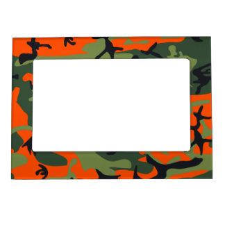 Orange Hunter Camo Magnetic Photo Frame