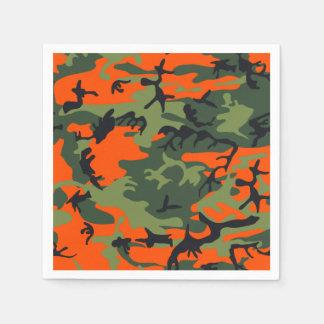 Orange Hunter Camo Paper Napkins