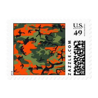 Orange Hunter Camo Stamps