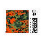 Orange Hunter Camo Postage Stamp