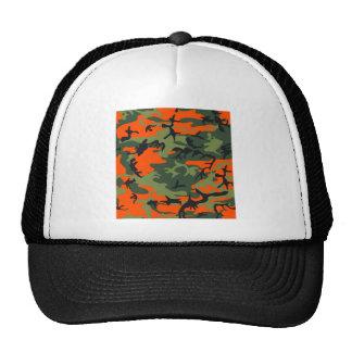 Orange Hunter Camo Trucker Hat