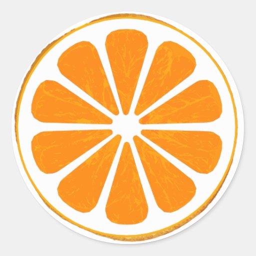 orange. hybrid. round sticker
