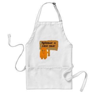 orange hydropower is clean power apron