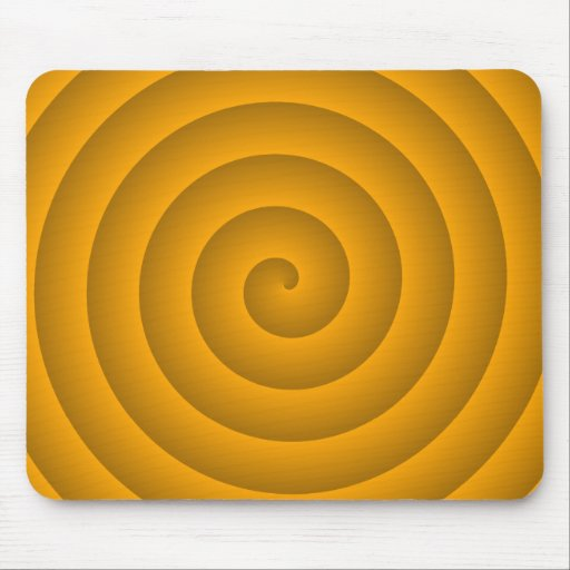 Orange Hypnotic Mousepads