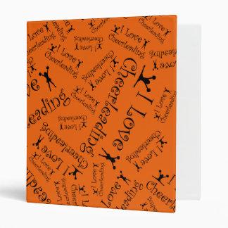 Orange I love cheerleading 3 Ring Binder