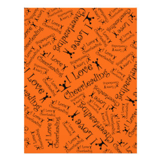Orange I love cheerleading Flyer