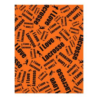 Orange I love lacrosse Personalized Flyer