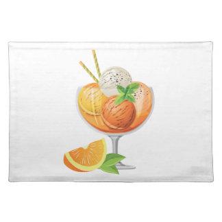Orange Ice Cream Cloth Placemat
