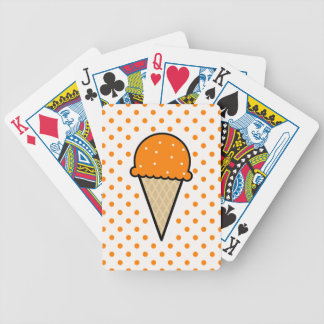 Orange Ice Cream Cone Bicycle Playing Cards