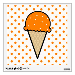 Orange Ice Cream Cone Wall Sticker