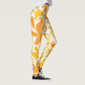 Orange Ice Cream Pattern Leggings