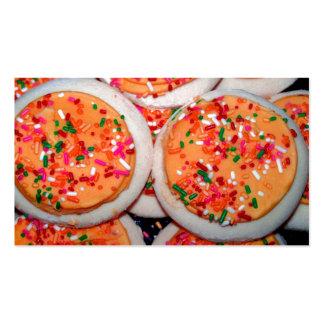 Orange Iced Sugar Cookies Business Card Template