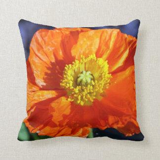 Orange Icelandic Poppy Pillow