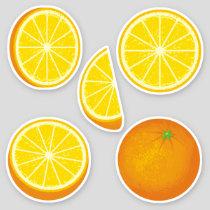 Orange Icon Set Stickers