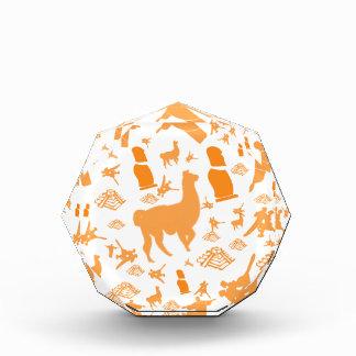 Orange Icons of South America Acrylic Award