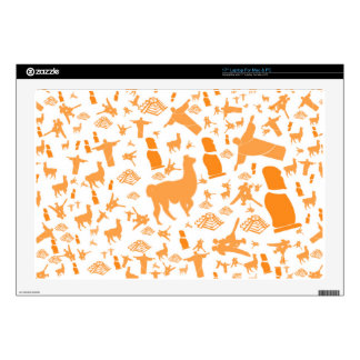 """Orange Icons of South America Skins For 17"""" Laptops"""