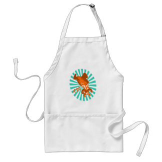 Orange Ika Adult Apron