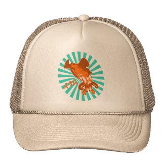 Orange Ika Trucker Hat