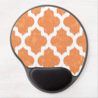 Orange Ikat Quatrefoil Classic Modern Geometric Gel Mouse Pad
