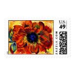 orange impression postage stamps