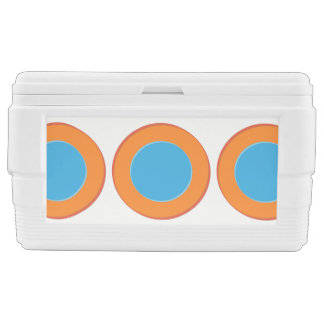 Orange In Blue Dots Chest Cooler