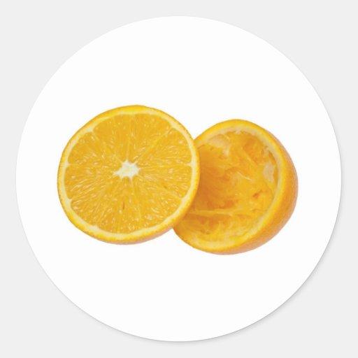 Orange in halves sticker