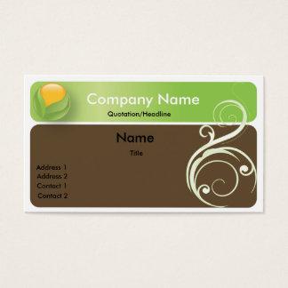 Orange in Leaf Business Card