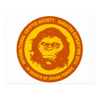 Orange IN SEARCH OF ORANG PENDEK - Sumatra Bigfoot Postcard