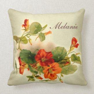 Orange Indian Cress Pillows
