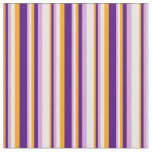 [ Thumbnail: Orange, Indigo, Plum, and Mint Cream Stripes Fabric ]