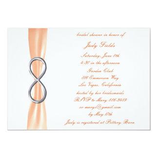 Orange Infinity Bridal Shower Invitation