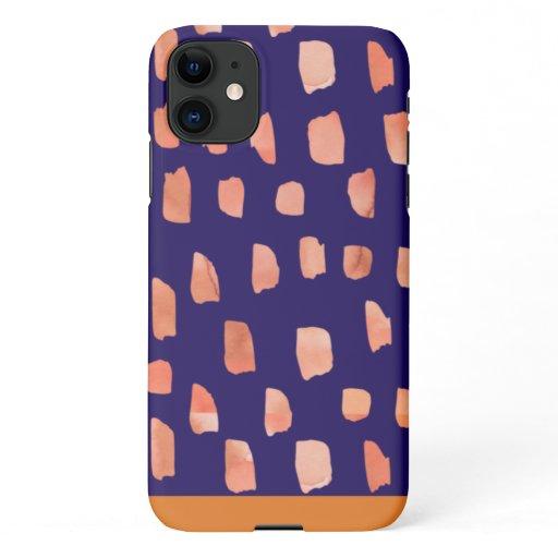 Orange Ink iPhone 11 Case