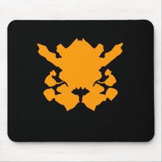 Orange Inkblot Mousepads