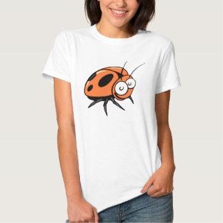 Orange Insect Beetle Cartoon - Ladies T-Shirt