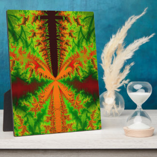 Orange insect Fractal Display Plaques