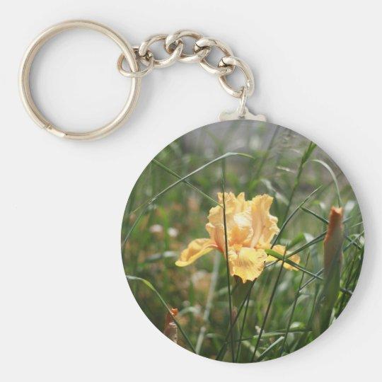 Orange Iris Keychain