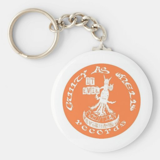 "Orange ""It Evil"" Key Chain"