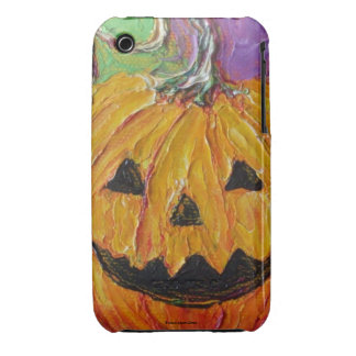 Orange Jack-O-Lantern Halloween iPhone 3 Case