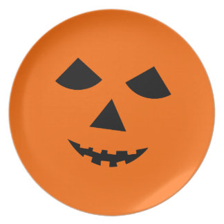 Orange Jack o Lantern  Halloween  Pumpkin Face Plate