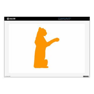 Orange Jaguar Laptop Skins
