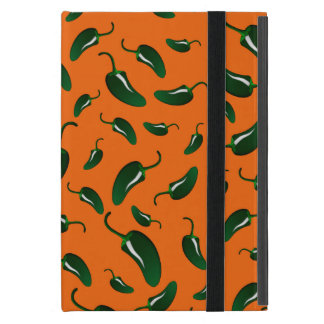 Orange jalapeno peppers pattern case for iPad mini