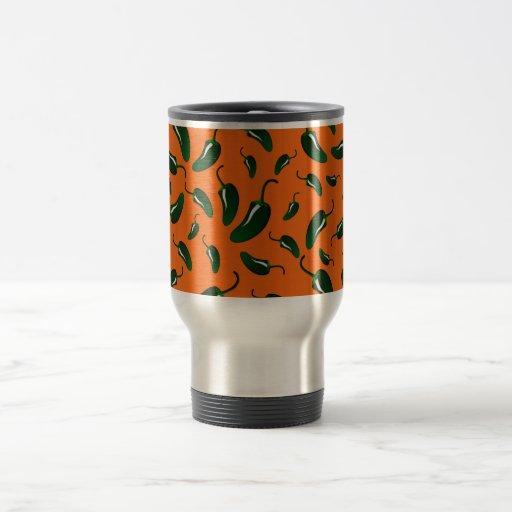 Orange jalapeno peppers pattern mug