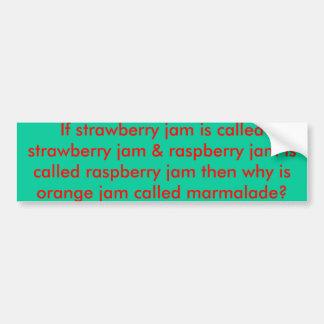 Orange Jam Car Bumper Sticker
