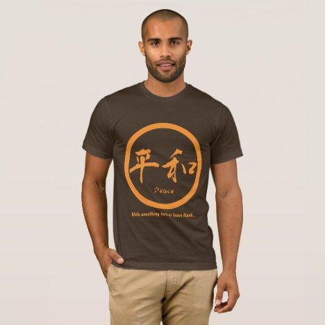 Orange Japanese kamon & Kanji for peace T-Shirt