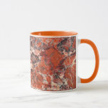 Orange Jasper Stone Pattern Mug